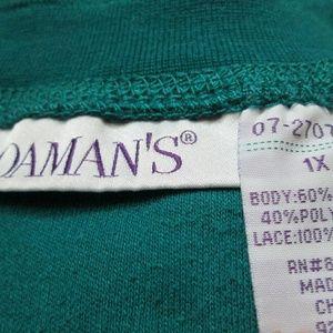 Roaman's Tops - Roaman's Oversized Crochet Bib Tunic